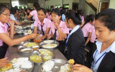 CAMBODIA: More than 700 Technical School Students Have Access to Better Nutrition Thanks to Rice-Meal Donation